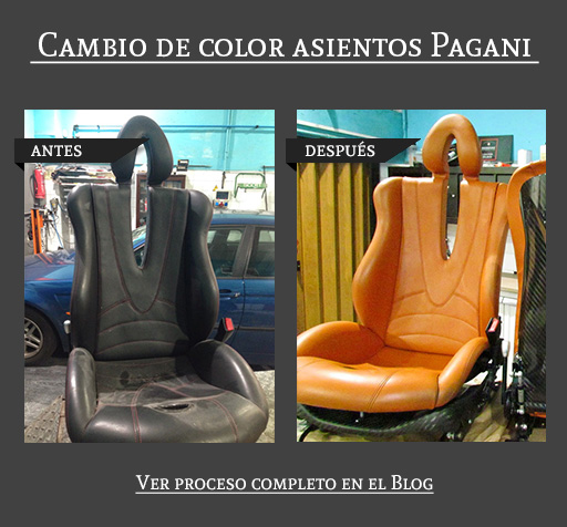 Cambio de color asientos Pagani